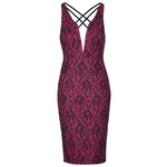 Topshop **Lace Plunge Neck Bodycon by Rare