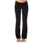 FOREVER21 Fit & Flare Fold-Over Yoga Pants