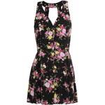 Černé květované šaty AX Paris s volnými zády