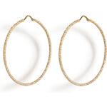 Carolina Bucci 18K Gold Mirador Sparkly Hoop Earrings