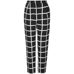 Topshop Window Pane Peg Leg Trousers