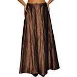 Roses Collection Společenská sukně BARBARA dlouhá bronzová