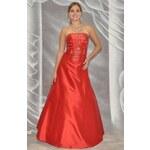 Roses Collection Šaty na maturitní ples VIVI, červené