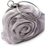 ROSES collection Společenská kabelka ROSE stříbrná
