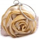 Roses Collection Společenská kabelka ROSE béžová