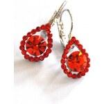 Roses Collection Náušnice AMANDA červené