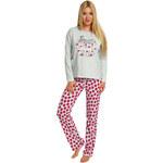 Italian Fashion Bavlněné dámské pyžamo Anita růžové XL