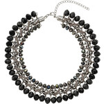 Topshop Faceted Bead Cord Wrapped Collar