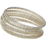 Topshop Textured Bangle Pack