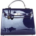 Dámská aktovka z lakované kůže Made in Italia / Torino - modrá univerzální