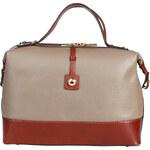 Originální dvoubarevná kabelka Made in Italia / Cervinia - světle hnědá univerzální