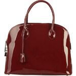 Luxusní lakovaná kabelka Made in Italia / Firenze - vínová univerzální