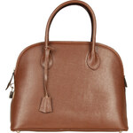 Elegantní kožená kabelka Made in Italia / Siena - oříškově hnědá univerzální