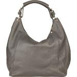 Kožená kabelka Made in Italia / Capri - šedá univerzální