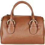 Dámská kožená kabelka Made in Italia / Milano - oříškově hnědá univerzální