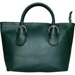 Dámská kožená kabelka Made in Italia / Parma - zelená univerzální