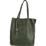 Prostorná kožená kabelka Made in Italia / Mestre - zelená univerzální