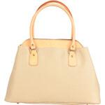 Atraktivní kožená kabelka Made in Italia / Settimo - béžová univerzální