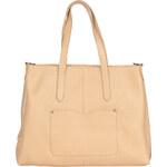 Praktická kožená kabelka Made in Italia / San Mauro - světle hnědá univerzální