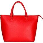 Dámská kožená kabelka Made in Italia / Ferrara - červená univerzální