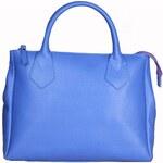 Elegantní kožená kabelka Made in Italia / Viterbo - modrá univerzální