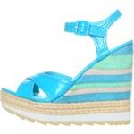 Pruhované sandály GAS - různé odstíny modré I. - Velikost 36