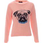 Ružový sveter Bulldog S/M