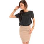 Béžová sukně MOE 011 M