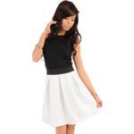 Bílá sukně MOE 012 L/XL