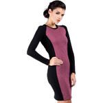 Fialové šaty MOE 037 S