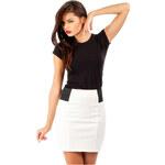 Bílá sukně MOE 042 M