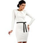 Smetanové šaty MOE 043 XL