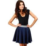 Tmavě modrá sukně MOE 054 S