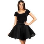 Černá sukně MOE 059 L