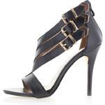 Čierne sandále Delta 36