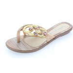 Dámské hnědozlaté pantofle Grendha IS Magia Thong EUR38