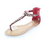 Červené sandále Oasis 36