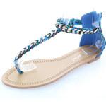 Modré sandále Oasis 36