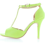 Limetkové sandále Carolina 36