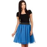 Modrá sukně MOE 084 S/M