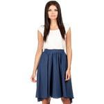 Tmavě modrá sukně MOE 083 S/M
