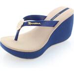 Dámské modro-béžové platformové pantofle Ipanema Sidewalk EUR40