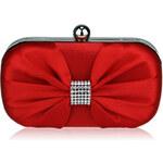 Červená kabelka Satin Clutch