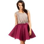 Bordová sukně MOE 059 M