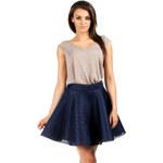 Tmavě modrá sukně MOE 059 S