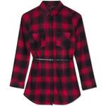 Tally Weijl Red & Black Check Shirt Dress