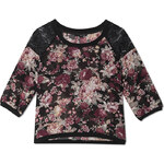 Tally Weijl Floral Print Sheer Top with Lace