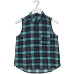 Tally Weijl Black & Blue Check Sleeveless Shirt