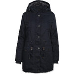 Tally Weijl Blue Coat with Faux Fur & Drawstring
