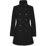 Tally Weijl Black Double Breasted Coat with Funnel Neck
